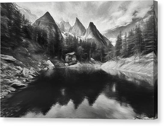Verde Canvas Print - Lake Verde In The Alps IIi by Jon Glaser