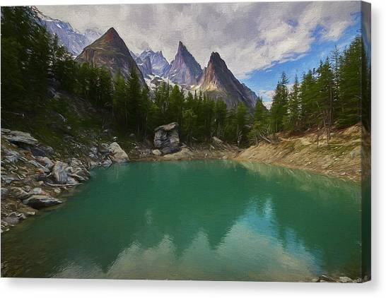 Verde Canvas Print - Lake Verde In The Alps II by Jon Glaser
