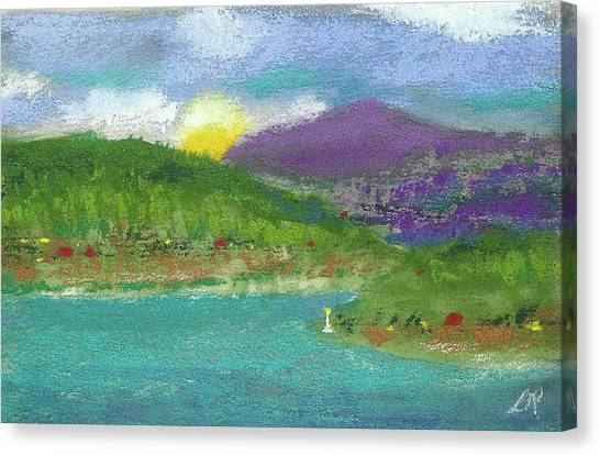 Canvas Print featuring the photograph Lake View by David Patterson