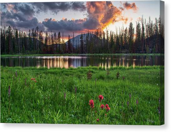 Uinta Canvas Print - Lake Wilder Sunset by James Zebrack