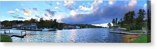 Canvas Print featuring the photograph Lake Winnipesaukee From Alton Bay, Nh by Joann Vitali