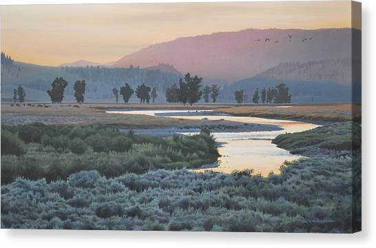 Lamar Evening Canvas Print