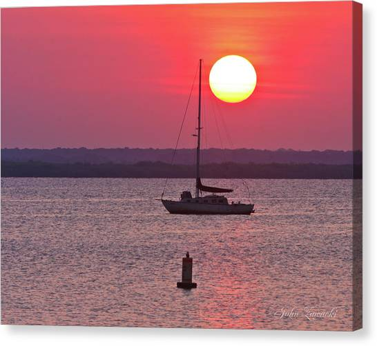 Lame Monroe Sunset-5140 Canvas Print