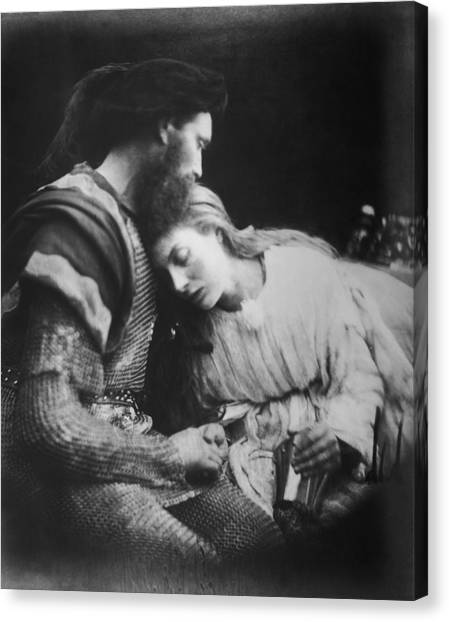 Lancelot And Guinevere Canvas Print by Julia Margaret Cameron