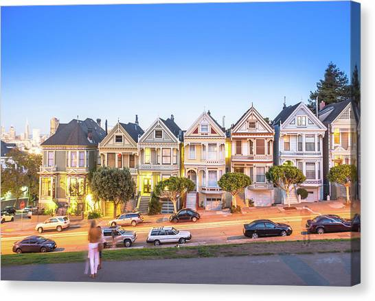 Landmark Residential House In San Canvas Print by Dowell