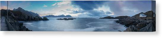 Landscape In The Lofoten Islands Canvas Print