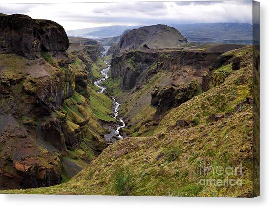 Landscape Of Canyon And River In Canvas Print by Vaclav P3k