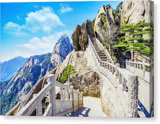 China Canvas Print - Landscape Of Huangshan Yellow by Aphotostory