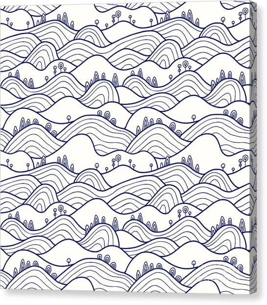 Trip Canvas Print - Landscape Pattern. Vector Seamless by Likemuzzy