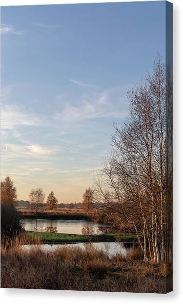 Canvas Print featuring the photograph Landscape Scenery by Anjo Ten Kate