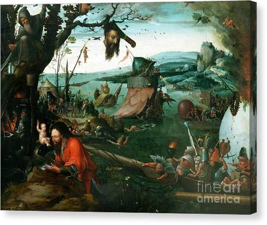 State Hermitage Canvas Print - Landscape With Legend Of St. Christopher by Peter Barritt