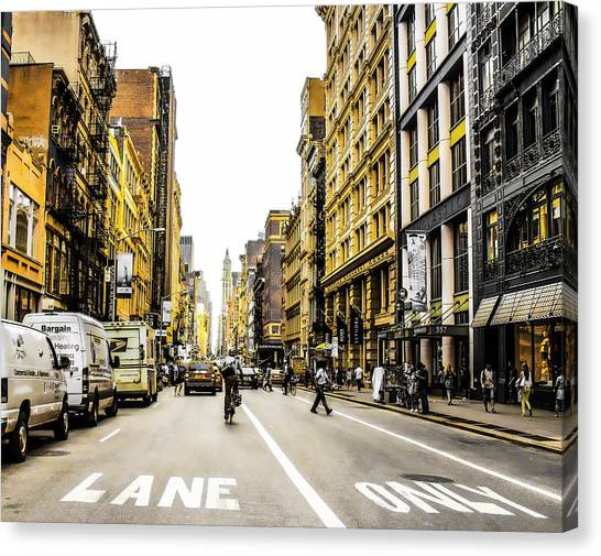 Lane Only  Canvas Print