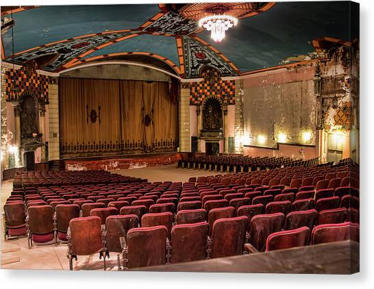 Canvas Print featuring the photograph Lansdowne Theater by Kristia Adams