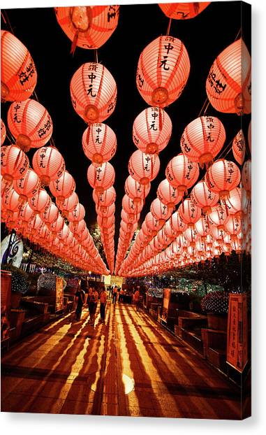 Chinese New Year Canvas Print - Lantern Alley by Tc Lin