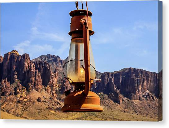 Lantern Over Superstitions Canvas Print