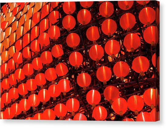 Chinese New Year Canvas Print - Lantern by Wallacefsk