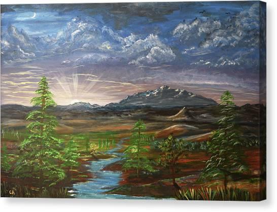 Laramie Peak Evening Canvas Print