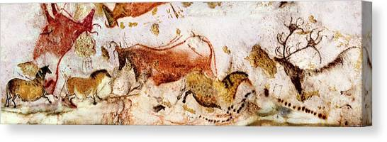 Lascaux Cows Horses And Deer Canvas Print