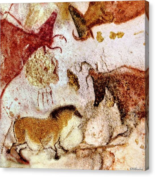 Lascaux Horse And Cows Canvas Print
