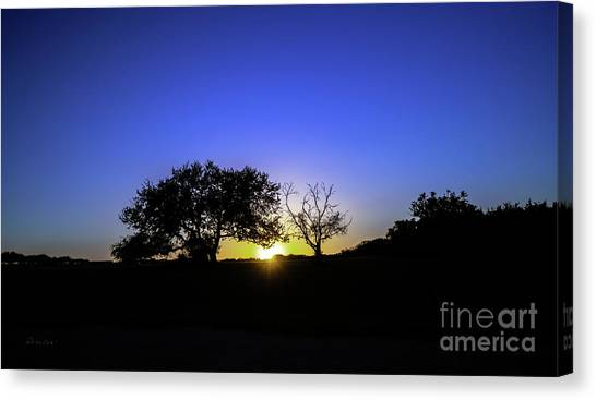 Last Light Texas Hill Country Paradise Canyon Sunset 8053a Canvas Print