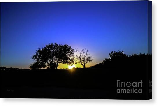 Last Light Texas Hill Country Paradise Canyon Sunset 8053a1 Canvas Print