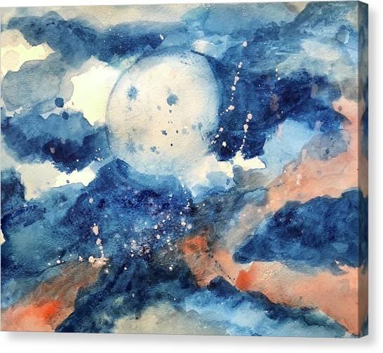 Last Nights Magic Moon Canvas Print