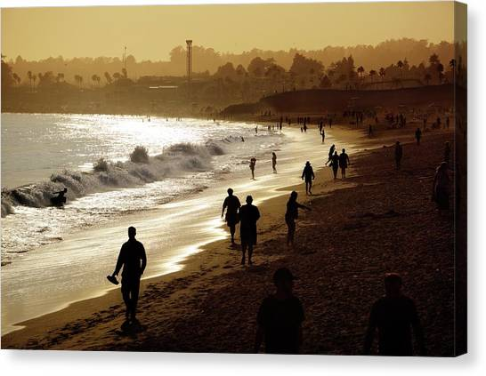 Canvas Print featuring the photograph Late Afternoon Stroll by Quality HDR Photography