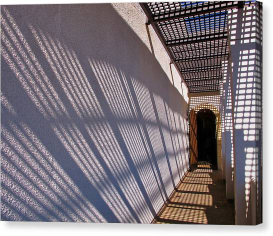 Lattice Shadows Canvas Print