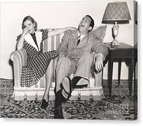 Indoors Canvas Print - Laughing At His Own Jokes by Everett Collection