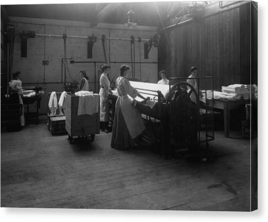Laundry Canvas Print by Hulton Archive