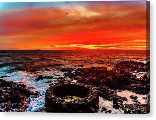 Lava Bath After Sunset Canvas Print