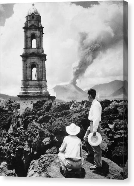 Lava Covers Church Canvas Print by Evans