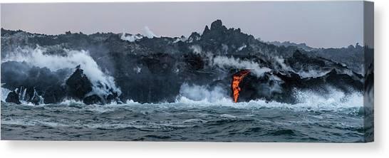 Lava Entering The Sea IIi Canvas Print