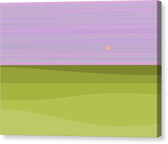 Rolling Hills Canvas Print - Lavender Sky by Val Arie