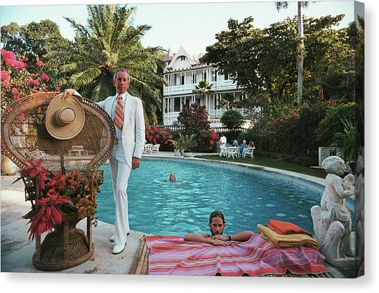 Lawrence Peabody II Canvas Print by Slim Aarons