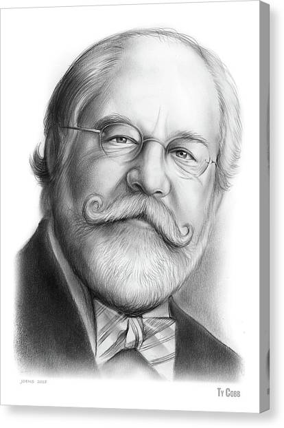 Law Canvas Print - Lawyer Ty Cobb by Greg Joens