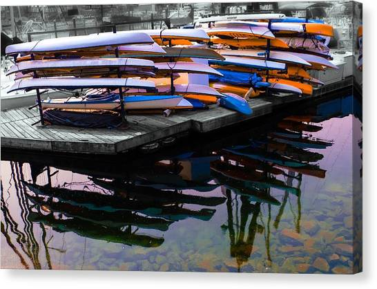 Layers And Layers By The Water Canvas Print