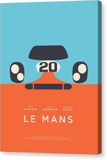 Spring Canvas Print - Le Mans Movie - B by Ivan Krpan