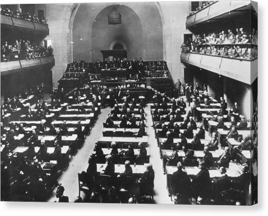 League Of Nations Canvas Print by Hulton Archive