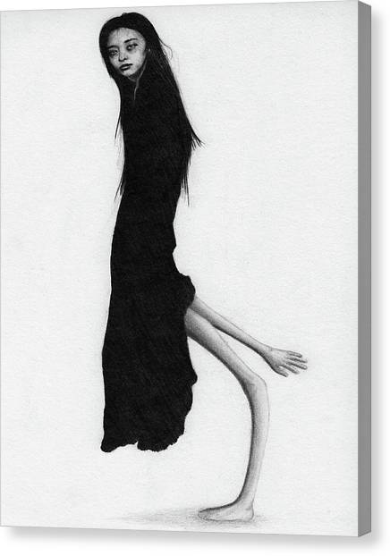 Leaning Woman Ghost - Artwork Canvas Print