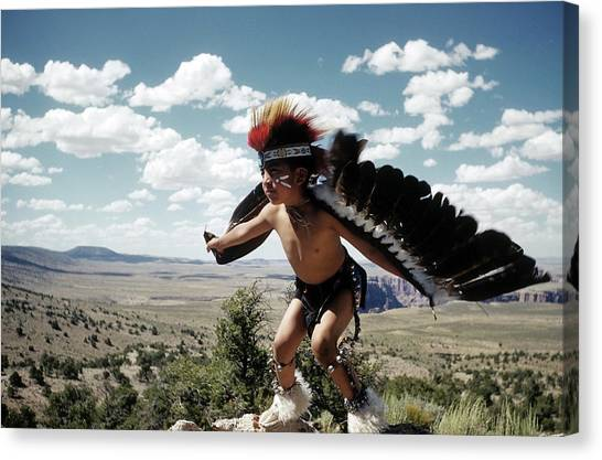 Learning The Eagle Dance In Grand Canyon Canvas Print