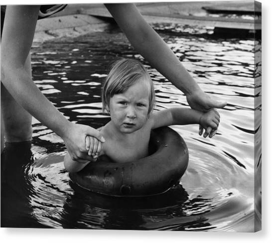 Learning To Swim Canvas Print