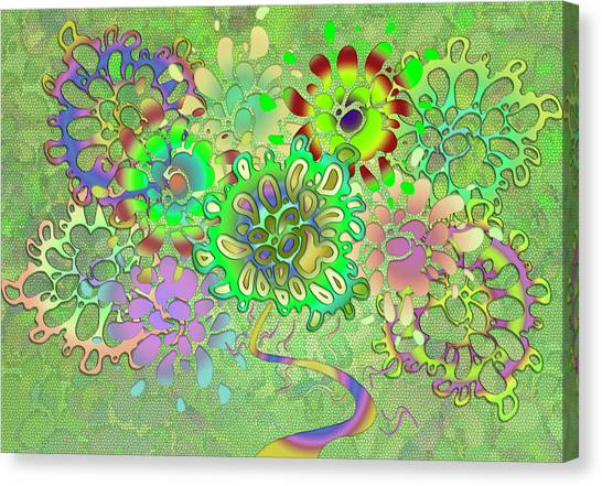 Leaves Remix Canvas Print