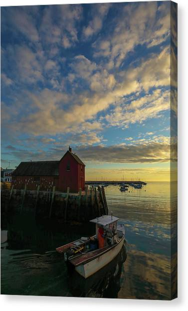Canvas Print featuring the photograph Leaving Safe Harbor by Juergen Roth