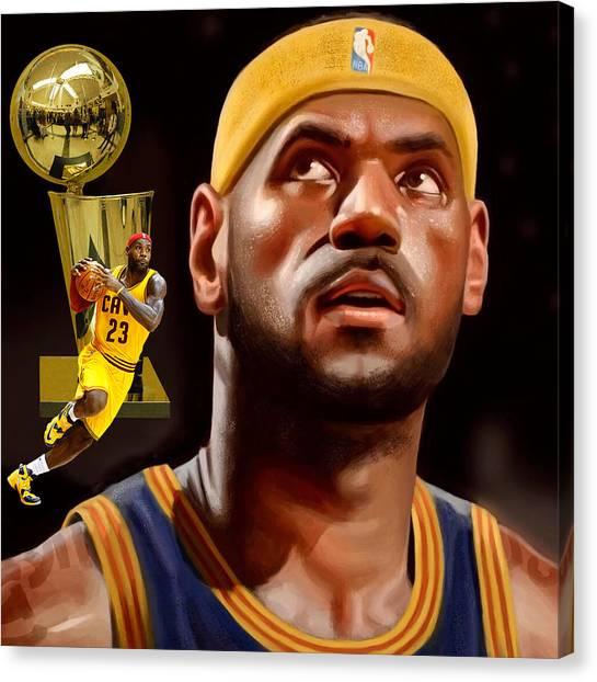 La Lakers Canvas Print - Lebron by Karen Showell