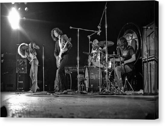 Jimmy Page Canvas Print - Led Zeppelin At The Forum by Michael Ochs Archives