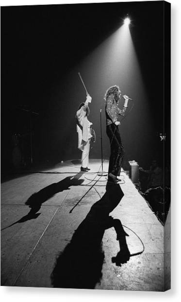 Jimmy Page Canvas Print - Led Zeppelin Performs In 1972 by Michael Ochs Archives