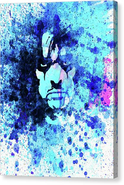Alice Cooper Canvas Print - Legendary Alice Cooper Watercolor by Naxart Studio