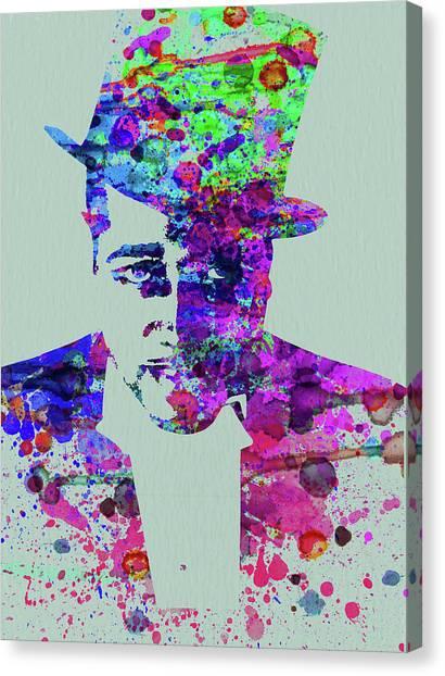 Legend Canvas Print - Legendary Duke Ellington Watercolor by Naxart Studio