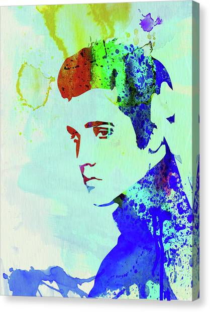 Elvis Canvas Print - Legendary Elvis Watercolor I by Naxart Studio